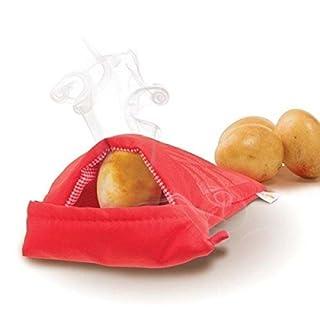 Always Fresh Kitchen Cook Tatoes Tasche für Kartoffeln in der Mikrowelle, Rot, 2x 22x 17cm