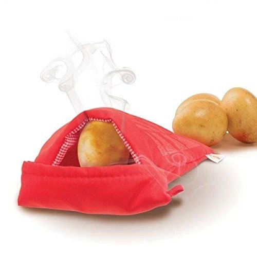 Always Fresh Kitchen Cook Tatoes Sac pour Pommes de Terre au Four Micro-Ondes Rouge 2 x 22 x 17 cm