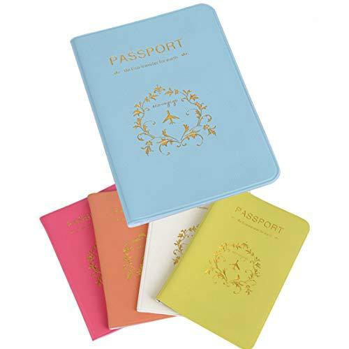 5 STK Reisepasshüllen Reisepass Schutz für Bordkarten Kreditkarten Pass Hülle Schutzhülle Passhülle Reisepasshülle Passport Cover Case (5 Farben)