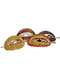 Haar-Spange aus Holz, Afrika-Style, Tiere, handgeschnitzte Haarspange, Haar-Schmuck