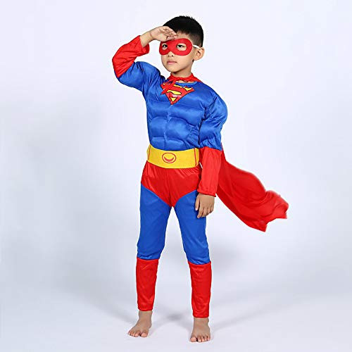 d Cosplay Superman Kostüm Halloween Party Filmrequisiten 3D Digitaldruck Zubehör,Superman-L ()