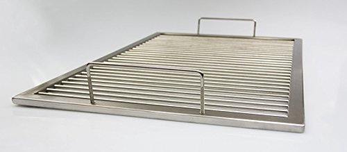 Grillrost aus Edelstahl nach Maß + 2 abnehmbare Bügelgriffe, Umfang: 261 - 280 cm, Rost nach Maßanfertigung, Grill nach Wunsch, Gasgrill, Grillkamin, V2A