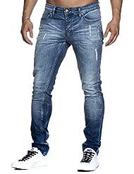 Tazzio slim fit Pantalon Jean destroyed Look stretch Denim 1002