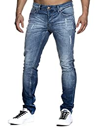 Tazzio slim fit Pantalon Jean destroyed Look stretch Denim 1002