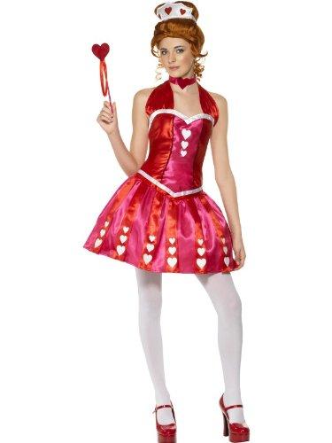 Smiffys Teen Rebel Toons Queen of Hearts Costume Age 13+ Girls - Teen Queen Of Hearts Kostüm
