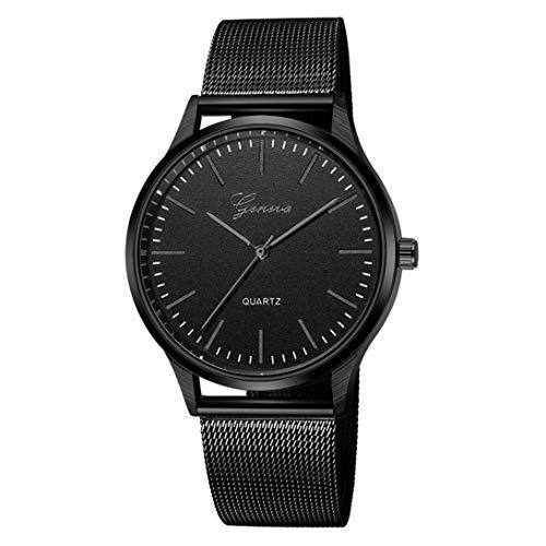 Uhren Genf Frauen Männer Edelstahl Uhr Analog Quarz Armband Armbanduhren Geschenk Kinlene Unisex Urhen