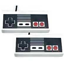 QUMOX 2x Nintendos Controles Mandos de Juegos SNES PC SFC para Windows PC USB Super famicom