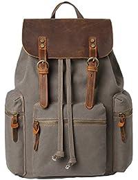 VRIKOO Cute Canvas Backpack Vintage Soft Shoulder School Travel Bag Daypacks for Men Women