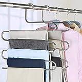 Kalunbs Magic S-vormige meervoudige roestvrij stalen spijkervorm, ruimtebesparend voor het ophangen van sjaal jeans (2 stuks)