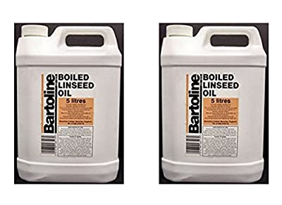 2 x Bartoline Boiled Linseed Oil Wood Sealer Garden Furniture Oil Protector 5 Litre (2)