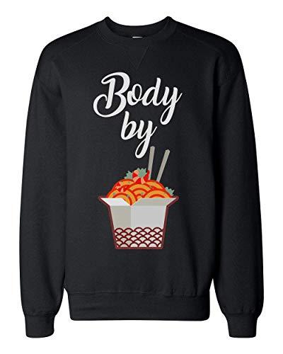 Finest Prints Body Made by Ramen Cool Design Unisex Sweatshirt XX-Large Junk-food-print-pullover