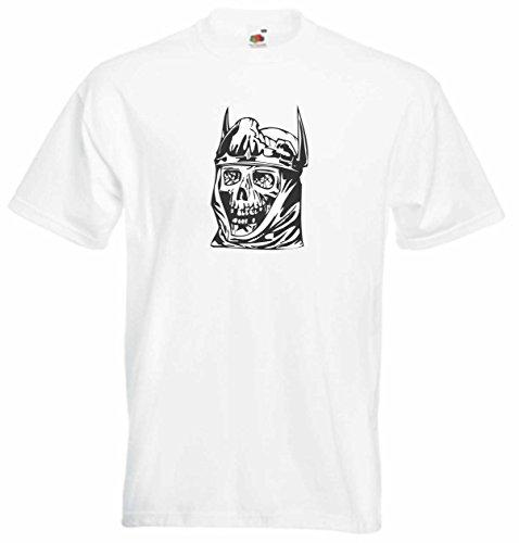 T-Shirt Herren Schädel Tod Weiß