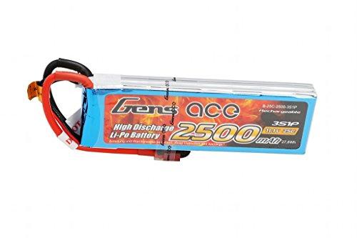 Gens ace Batteria LiPo 2500mAh 11.1V 25C 3S per RC Drone Elicottero Aereo FPV Quadcopter RC Auto