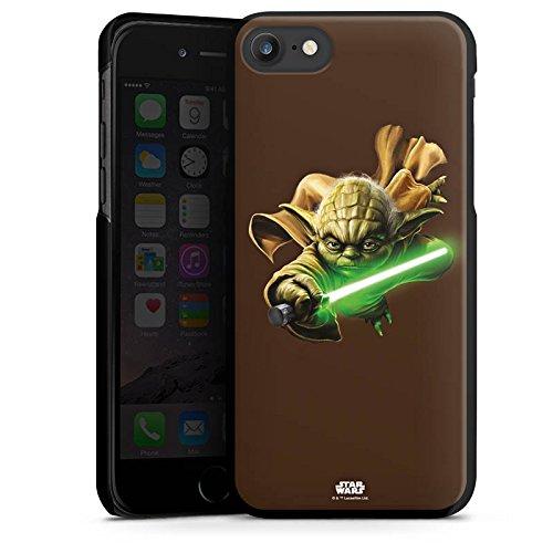 Apple iPhone X Silikon Hülle Case Schutzhülle Star Wars Merchandise Fanartikel Yoda Lichtschwert Hard Case schwarz