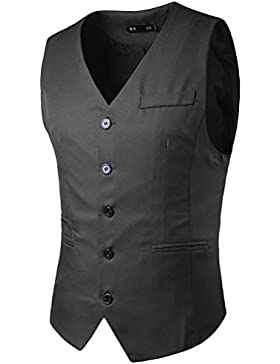 Zhhlaixing Respirable Men's Business Formal Casual Skinny Dress Vest Waistcoat Sleeveless