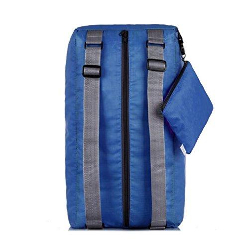 Wmshpeds Multi-funzionale spalla maschio Messenger moda zaino borsa da viaggio femmina versione coreana di piegatura può essere sacco ripiegato B