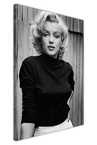 Kunstdruck auf Leinwand, gerahmt, Marilyn Monroe, Schwarz und Weiß, canvas, schwarz / weiß, 03- A2 - 24