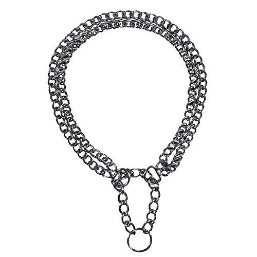 Trixie Zug-Stopp-Kettenhalsband, verchromt für Hunde (65 cm) (verchromt)