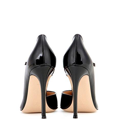 EDEFS - Escarpins Femme - Stilettos Chaussures Boucle - Talon Aiguille - Bout Pointu Fermé - Mary Jane Pumps Noir