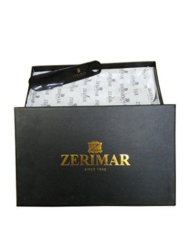 Zerimar Scarpe Uomo Eleganti in Pelle Nautico con Suola in Gomma Flessibile 100% Pelle di Alta Qualità La marcatura di Fashion Design Rivestimento Interno in Formati di Grandi XXL 47 a 50 Blu marino