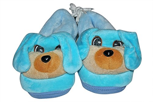 Baby Station Booties Winter Warm Girl Boys Shoes First Walker Training Shoes Dog Face(0-6 M) (Blue)  available at amazon for Rs.280