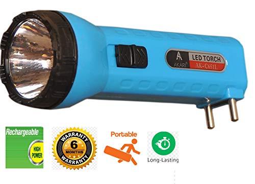 IONIX Akari Plus Model LED Torch Light Rechargeable, 2 W Pocket Size Light (Multicolour)