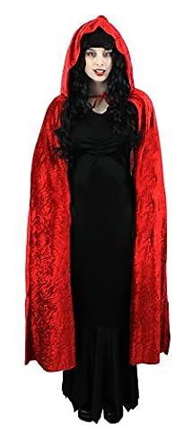 I Love Fancy Dress ILFD4590 Long Hooded Velour Cape (One