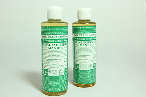 Dr. Bronner's Liquid Soap Almond, Flüssigseife Mandel 236 ml 2er SET -