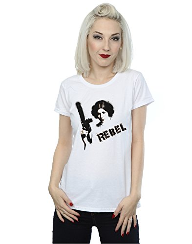 cess Leia Rebel T-Shirt Small Weiß (Princess Star Wars)