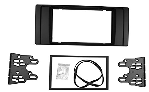 Maxiou Double Din Facia für Serie 5 E53 E39 Radio Stereo DVD Dash Installation Trim Kit Blende Lünette (Double Din) Stereo Installation Kit