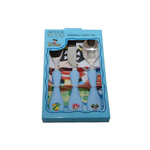 Price comparison product image Arthur Wood Pirates Kids Cutlery Set, Silver