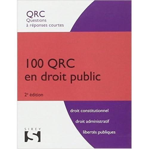 100 QRC en droit public - 2ème édition de Patrick Fraisseix,Zéhina Aït-El-Kadi ( 19 mars 2014 )