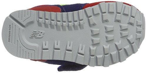 New Balance Kv574wii M Hook and Loop, Baskets Basses Mixte Enfant Multicolore (Navy/red)