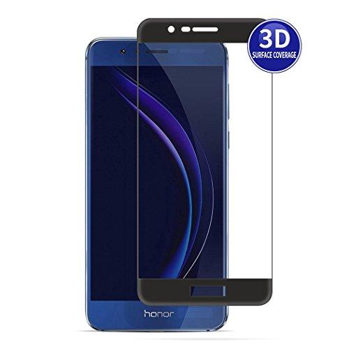 X-Dision Huawei Honor 8 Pro (Schwarz) 3D Schutzfolie Vollbildschutz Premium HD-Komplettabdeckung 9H Härten von Glasschutz Anti-Fingerabdruck und Anti-Shatter