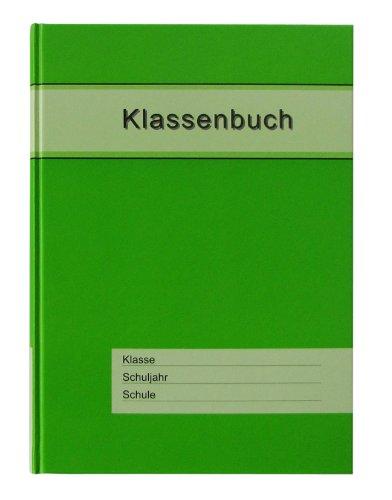 Klassenbuch Standard mit grünem Umschlag, für alle Schulformen - 11 Unterrichtsstunden/Tag