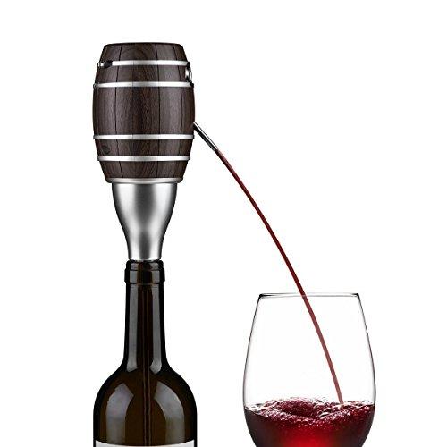 Elettrico aeratore per vino rosso decanter con boccaglio  tubo estensibile in acciaio inossidabile ,one touch automatico per versare instant tubo lungo decanter vino smart dispenser decanter con nero