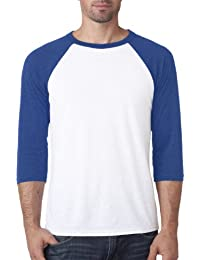Delifhted Adult 3/4 Sleeve Blended Baseball Tee