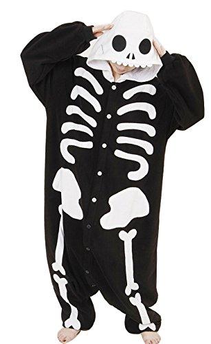 Unisex Adulto Kigurumi Pigiama Cartone Animale Cosplay Costume di Halloween scheletro