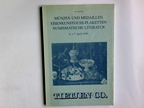 60. Auktion. M|nzen und Medaillen. Eisenkunstguss-Plaketten. Numismatische Literatur. 26. Mdrz 1990 in Hamburg - Messe-medaille