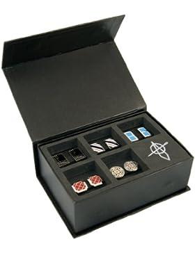 STARTER SOLUTION Manschettenknöpfe, coole Cufflinks 5 Stück (paarweise, aus Messing), Manschettenknöpfe Box, Farbe...