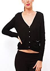 Pepe Womens Wool Pullover (NIEVE LS_Black_XL)