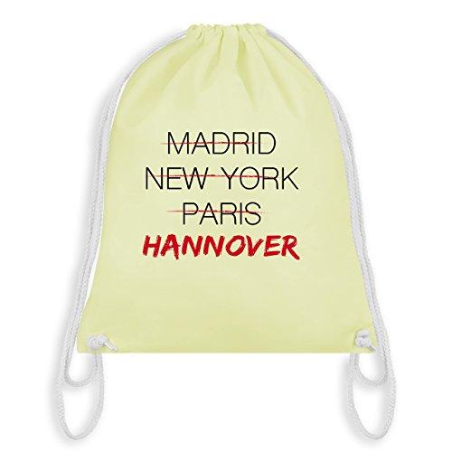 f6987ca83acf0 Shirtracer Städte - Weltstadt Hannover - Unisize - Pastell Gelb - WM110 -  Turnbeutel   Gym