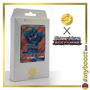 Marshadow-9GX 137/147 Full Art - #myboost X Sonne & Mond 3 Nacht in Flammen - Box de 10 Cartas Pokémon Aleman