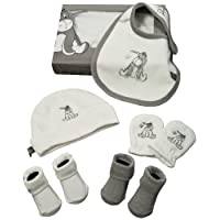 Panda EEY GIFT BOX 3 71028 - Disney Eeyore Geschenkset für Neugeborene bestehend aus Lätzchen, Handschuhe, 2 Paar Söckchen, Mütze