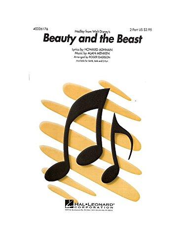 Alan Menken: Beauty And The Beast (Medley) - 2-Part. Für Zweistimmiger Chor, Klavierbegleitung