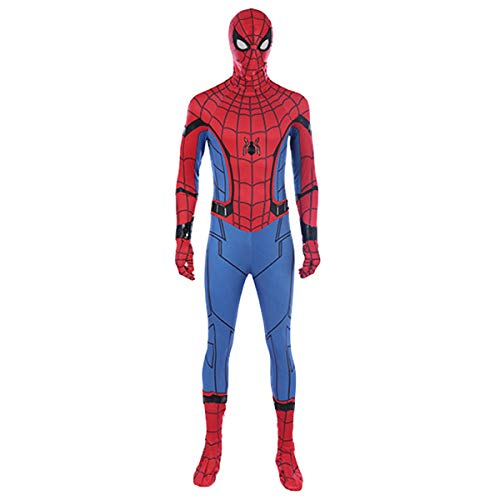 QWEASZER Spider-Man Homecoming Kampf Enger Body Halloween Cosplay Kostümparty Kostüm Anime Film Leistung Onesies,Spiderman-XL (Spiderman Kostüm Kämpfen)
