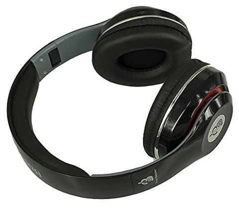 Base Booster Foldable Casque stéréo Bluetooth BB-3003BT FM Stéréo MP3 HD Qualité sonore Micro SD Player Style DJ sur l'oreille (noir)