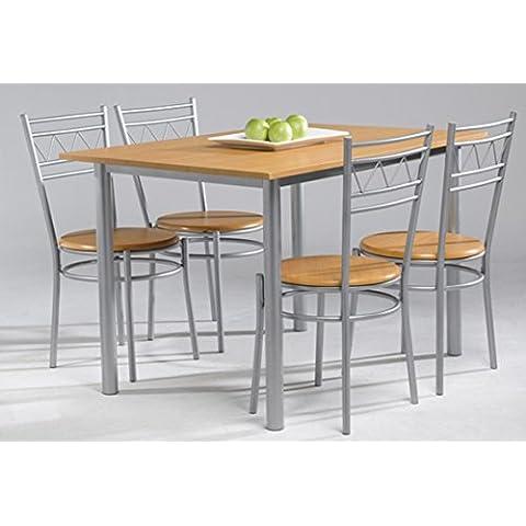 Conjunto anillo de mesa de cocina + 4 sillas