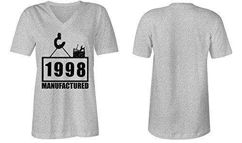 ... Manufactured 1998 - V-Neck T-Shirt Frauen-Damen - hochwertig bedruckt  mit