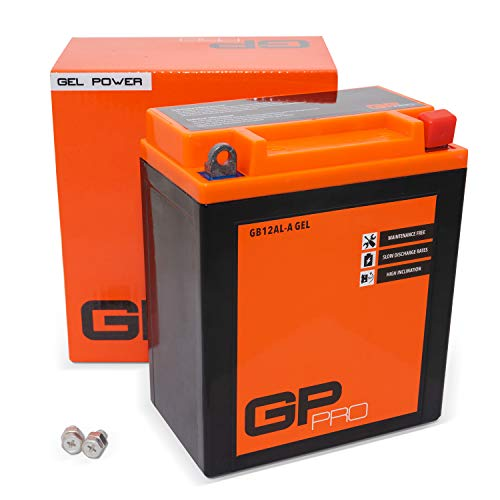 GP-PRO GB12AL-A 12V 12Ah GEL-Batterie (Ähnlich YB12AL-A / YB12AL-A2) (Wartungsfrei & Versiegelt) Akkumulator Motorrad Motorradbatterie